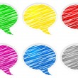 Round speech bubbles — Stock Vector