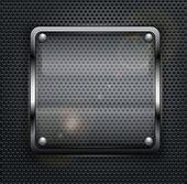 Botón cuadrado web — Vector de stock