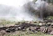 återuppbyggnaden av striden av andra världskriget — Stockfoto