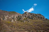 Outcrops on the mountain Demerdzhi — Stock Photo