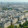 Aerial view of Paris from Eiffel Tower — Stock Photo