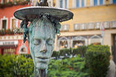 Crying fountain with termal water in Karlovy Vary — Stock Photo