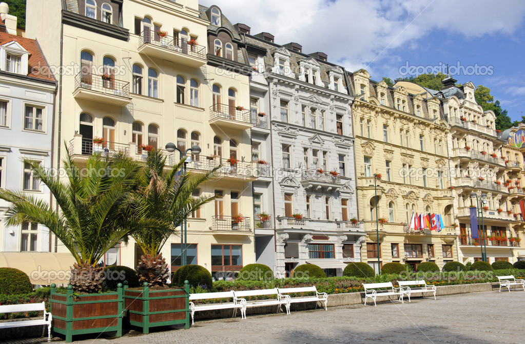 City center in Karlovy Vary  Stock Photo #11644803