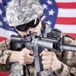 soldat américain tir — Photo #10818483