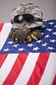 Fallen soldier — Stock Photo