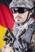German soldier — Stock Photo