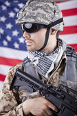 American soldier — Foto Stock