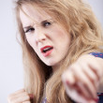 Angry woman — Stock Photo