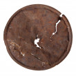 Rusty tin lid — Stock Photo