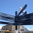 Kilometers distance pole in Cape Town — Stock Photo #11147584