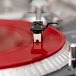 Turntable vinyl record player closeup — Stock Photo