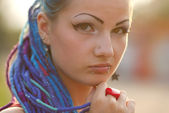 Portrait of teenage punk girl — Stock Photo
