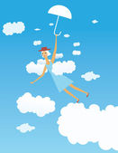Létající dívka — Stock vektor