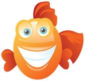 Funny happy fish — Stock Vector