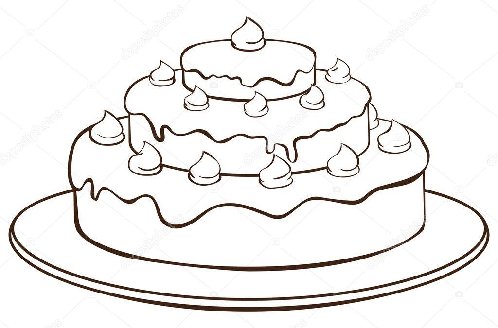 Outline cake   Stock Vector ? iaRada #11422663