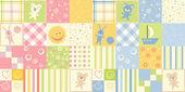 δύο μωρό άνευ ραφής — Διανυσματικό Αρχείο
