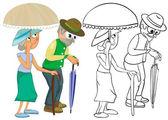 Senior Citizens — Stock Vector