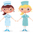 Nurse with stethoscope — Imagen vectorial