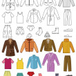 Mens clothing collection — Imagen vectorial