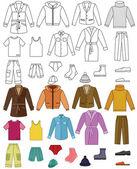 Colección de ropa para hombres — Vector de stock