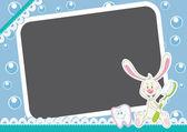 Bunny und zahnbürste — Stockvektor