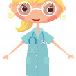 Nurse with stethoscope — Stock Vector #12139576