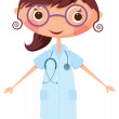 Nurse with stethoscope — Stock Vector