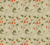 イチゴとシームレスなパターン — ストックベクタ
