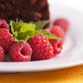 Closeup rasberries — Stock Photo