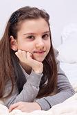 красивая школьница — Стоковое фото