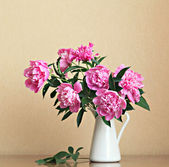 Bouquet of peonies — Stock Photo