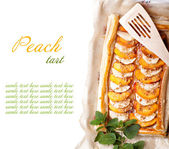 Peach tart — Stock Photo