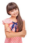 Smiling cute girl — Stock Photo