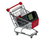 Shopping Cart with a cell phone — Stock Photo