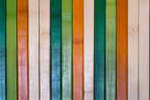 Backgrounds collection - Multi colored wooden plank wall — Stock Photo