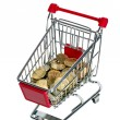 Shopping Cart with money - Stock Photo