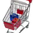 Shopping Cart with gift boxes — Stock Photo #11536211