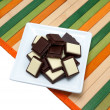 Stock Photo: Food collection - Black and white chocolate