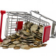 Shopping Cart with money — Stock Photo #12296044