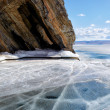 Baikal in winter — Stock Photo