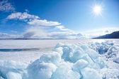 зимний байкал — Стоковое фото