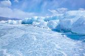在冬天贝加尔湖 — 图库照片