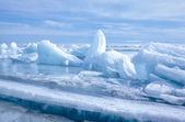 Baikal in de winter — Stok fotoğraf