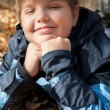 Boy in autumn park — Stock Photo #11338706