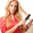 Stock Photo: Hairdressing girl