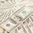 Stock Photo: Dollars seamless background