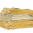 Stack of old newspapers isolated — Stock Photo #11007722