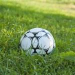 Soccer ball or football ball — Stock Photo