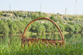 Empty picnic basket — Stock Photo