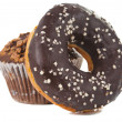 Donuts with chocolate - Stockfoto
